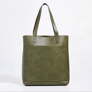NWT Madewell Medium Transport Tote, Green Woodland